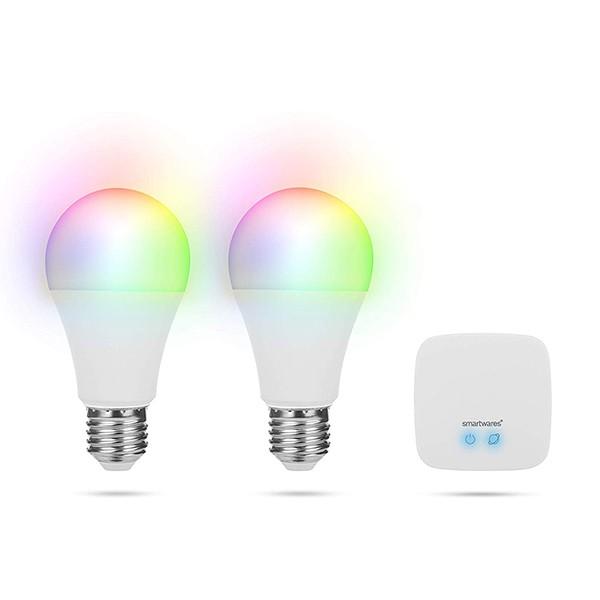 Set de Bombillas Inteligentes Smartwares HW1601-2L