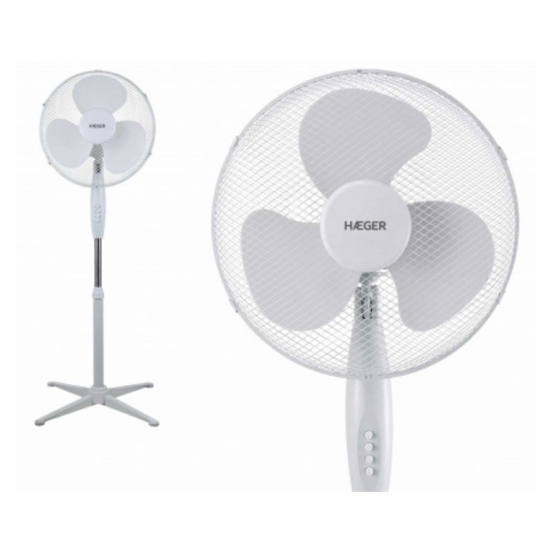 Ventilador de Pie Haeger Cross Wind Blanco