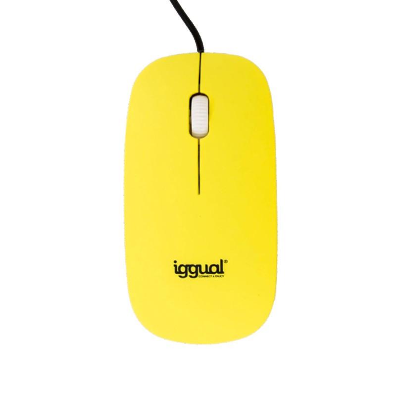 Ratón Óptico USB Slim Kloner iggual SLIM-1 Amarillo