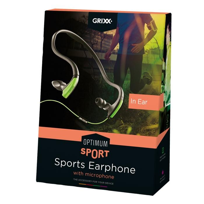 Auriculares Deportivos con Micrófono In Ear Grixx Sport Earphone