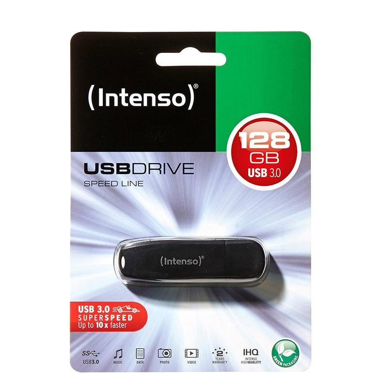 Pendrive 128GB Intenso Speed Line USB 3.0 Negro