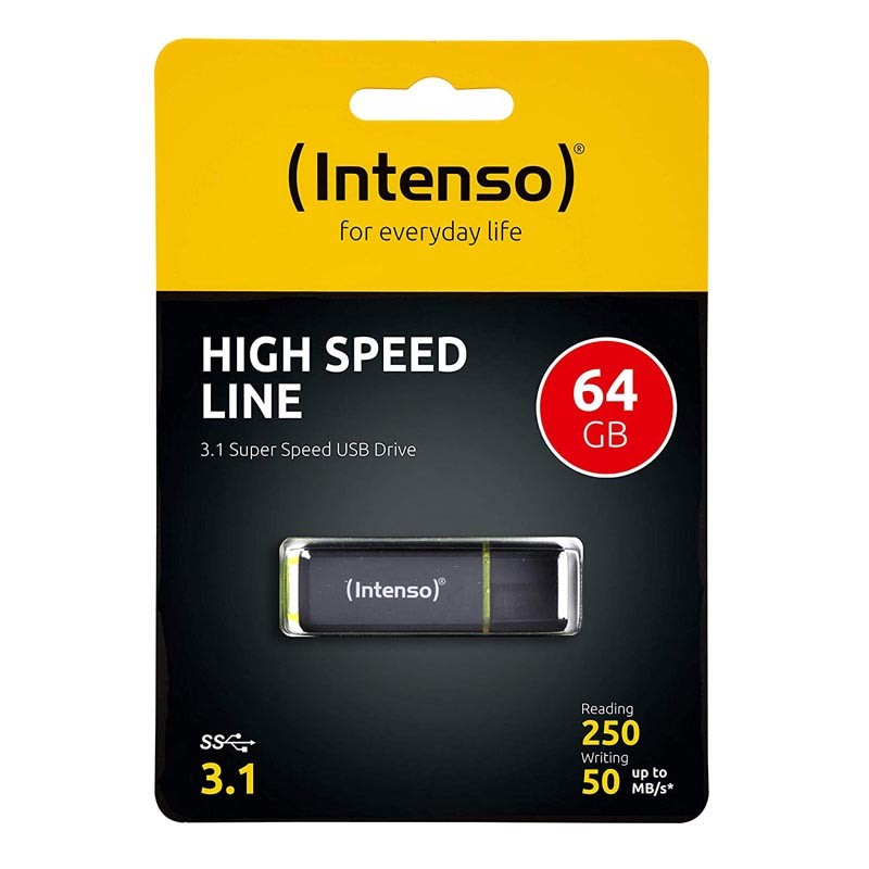 Pendrive 64GB Intenso High Speed Line USB 3.1