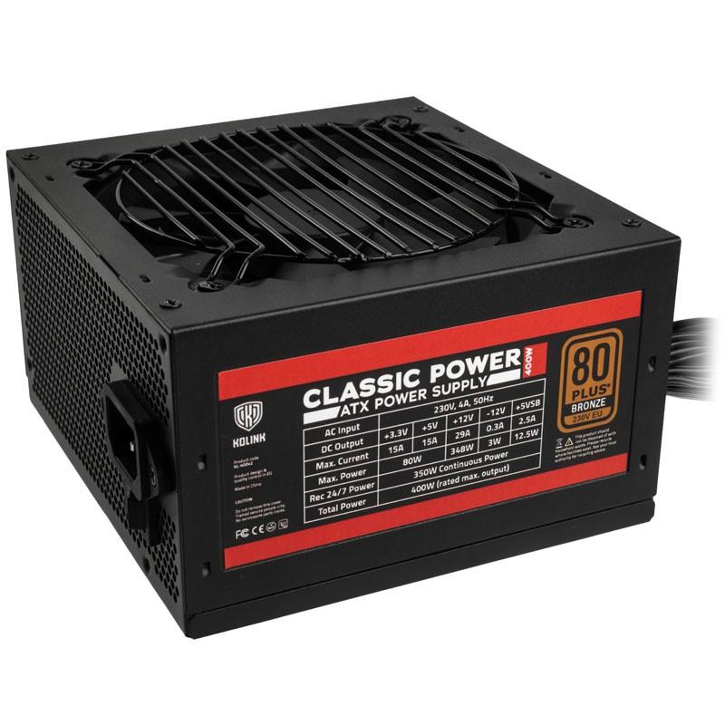 Fuente de Alimentación Kolink Classic Power 80 PLUS Bronze 400W