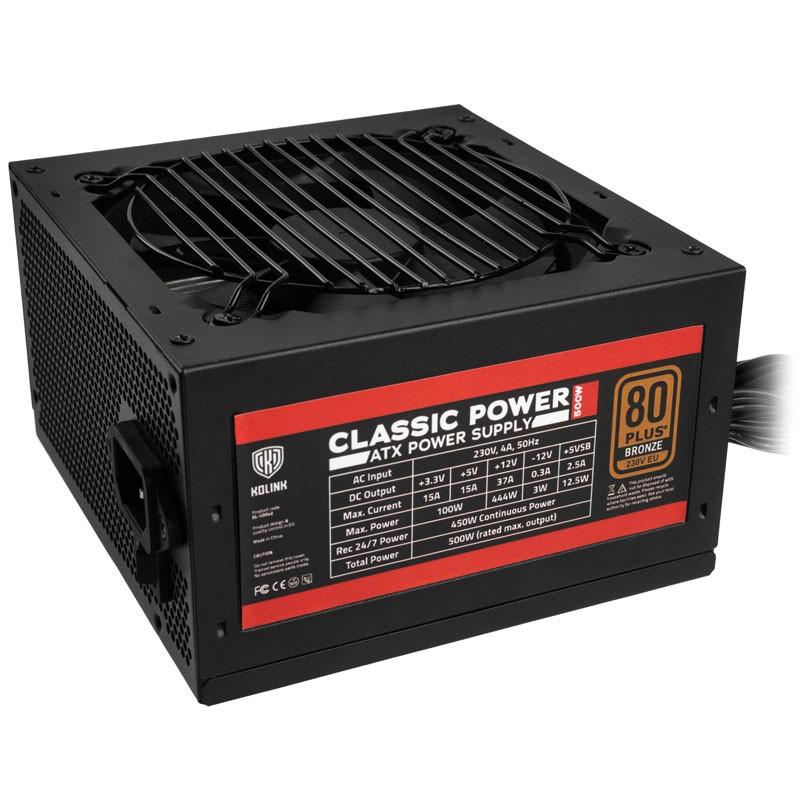 Fuente de Alimentación Kolink Classic Power 80 PLUS Bronze 500W