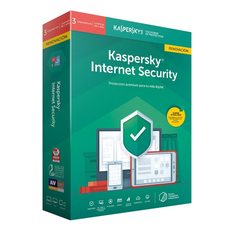 Kaspersky Internet Security 2019 3 Dispositivos - Renovación
