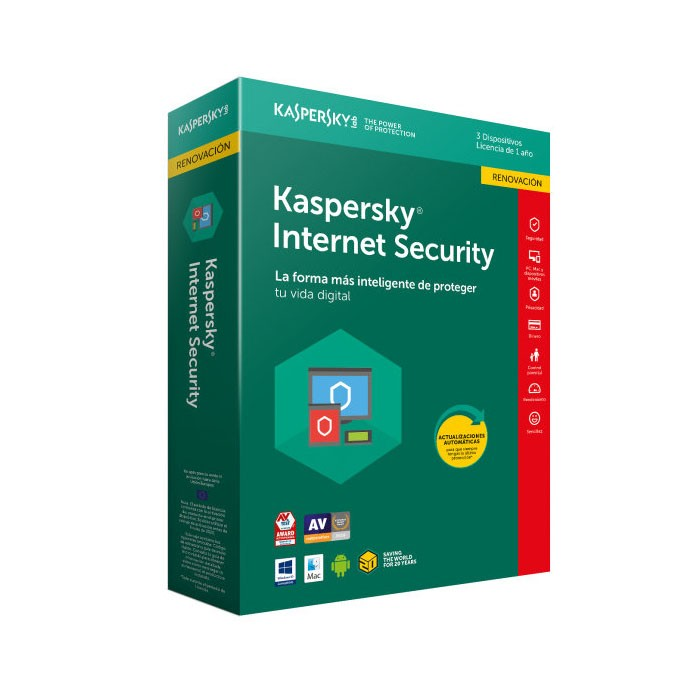 Kaspersky Lab Internet Security 2018 3 Dispositivos (Renovación)