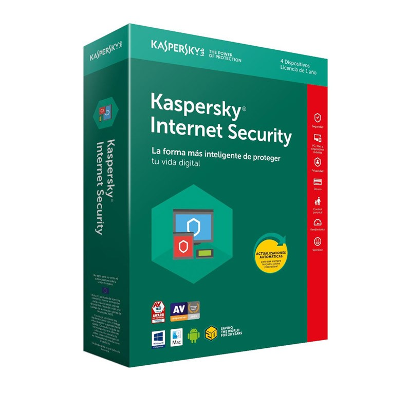 Kaspersky Lab Internet Security 2018 4 Dispositivos