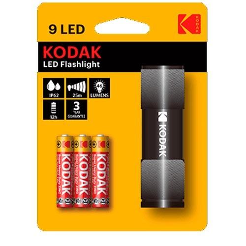 Linterna Aluminio Kodak 9LED Negro 46 Lumens