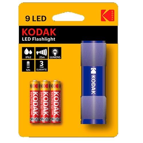 Linterna Aluminio Kodak 9LED Azul 46 Lumens