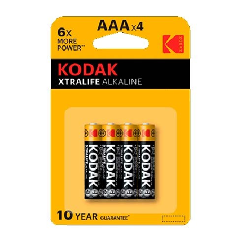 Pila Alcalina AAA Kodak XtraLife Pack 4 uds (LR03)