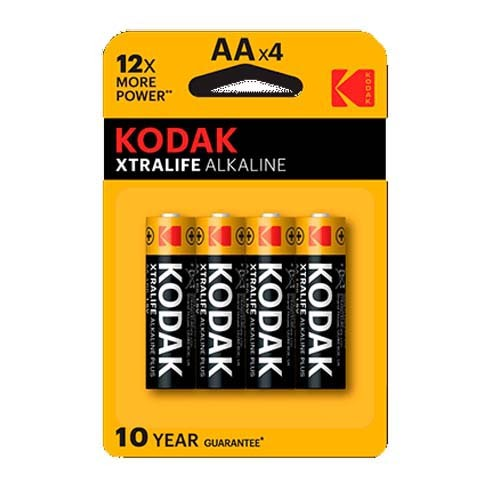 Pila Alcalina AA Kodak XtraLife Pack 4 uds (LR6)