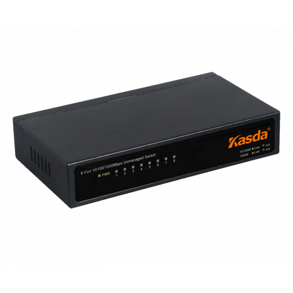 Switch 8 Puertos Kasda KS1008 10/100/1000Mbps