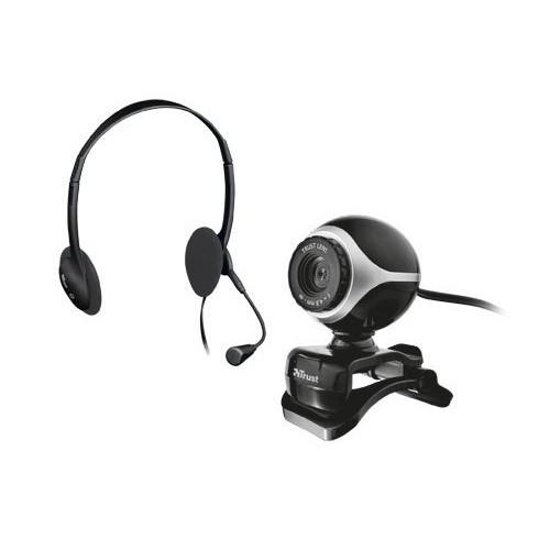 Kit Auriculares y Webcam Trust Exis Chatpacke 17028