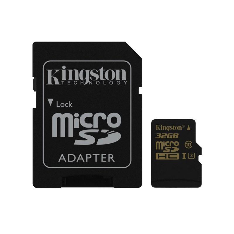 Tarjeta MicroSDHC 32GB UHS-I U3 Kingston Gold c/Adapt