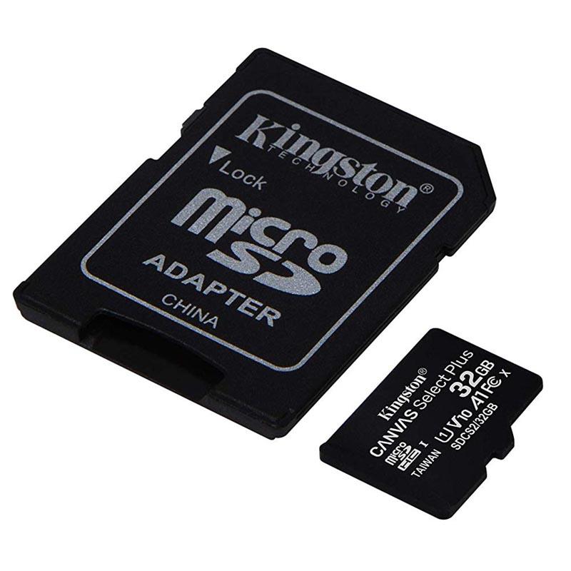Tarjeta MicroSDHC 32GB Clase 10 UHS-I V10 Kingston Canvas Select Plus - Pack 2