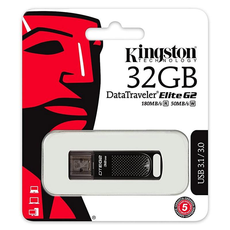Pendrive 32GB Kingston DataTraveler Elite G2 USB 3.1