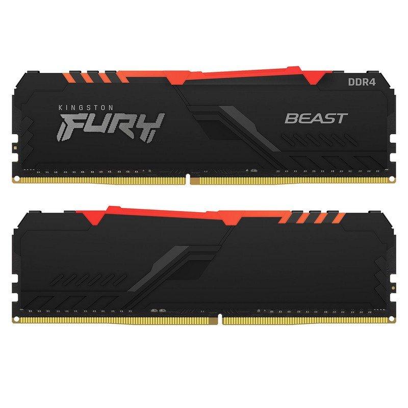 Memoria RAM Kingston Fury Beast RGB 16GB (2x8GB) DDR4 3200MHz CL16