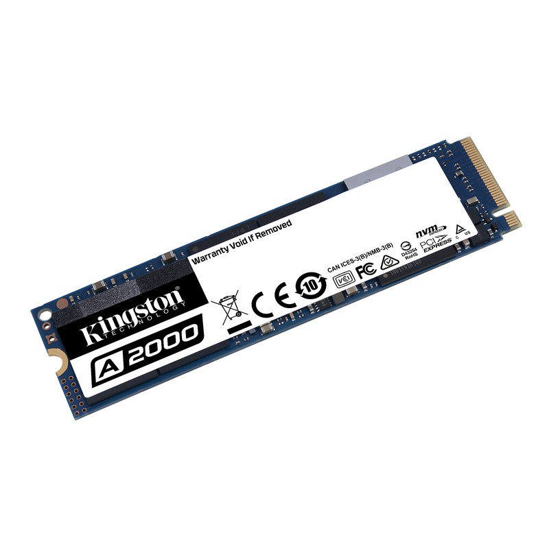 Disco Duro SSD M.2 PCIe Gen3 x4 NVMe Kingston A2000 500GB
