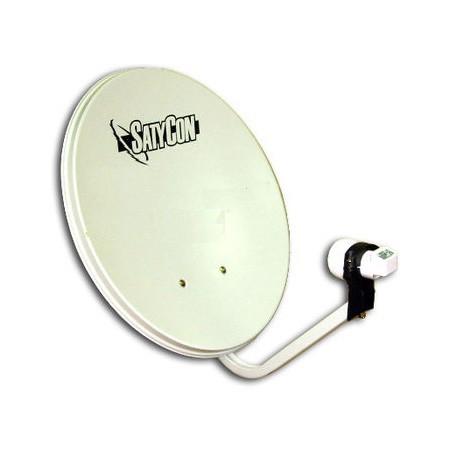 Kit Antena Parabolica de 80cm + LNB+ Soporte Suelo/Pared
