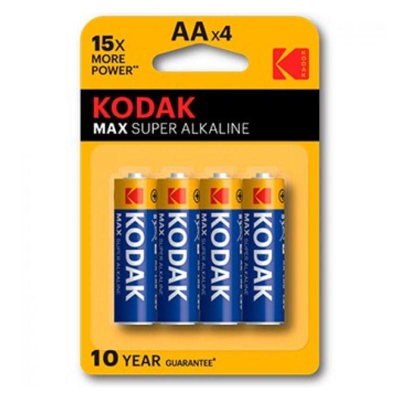 Pila alcalina aa kodak max pack 4 uds (lr6)