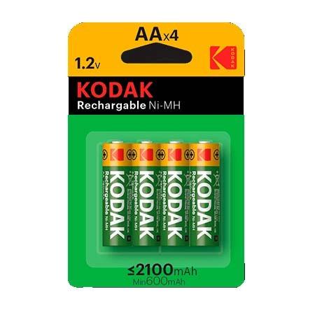 Pilas Recargables AA 2100mAh Kodak pack 4 uds