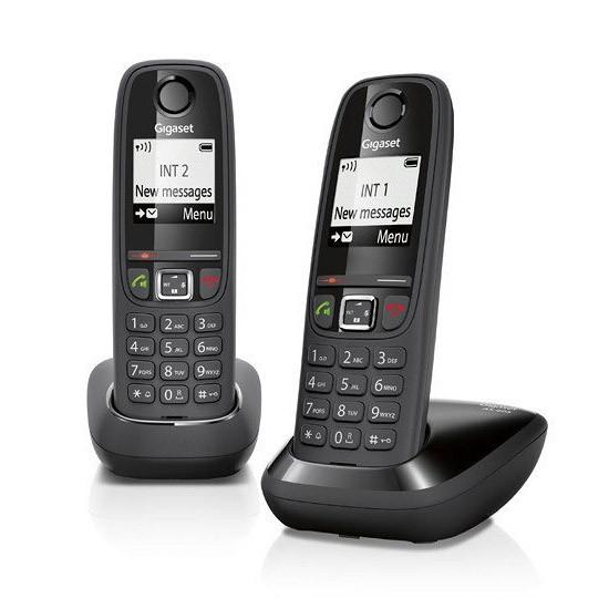 Telefono Inalambrico Siemens Gigaset AS405 Duo Negro