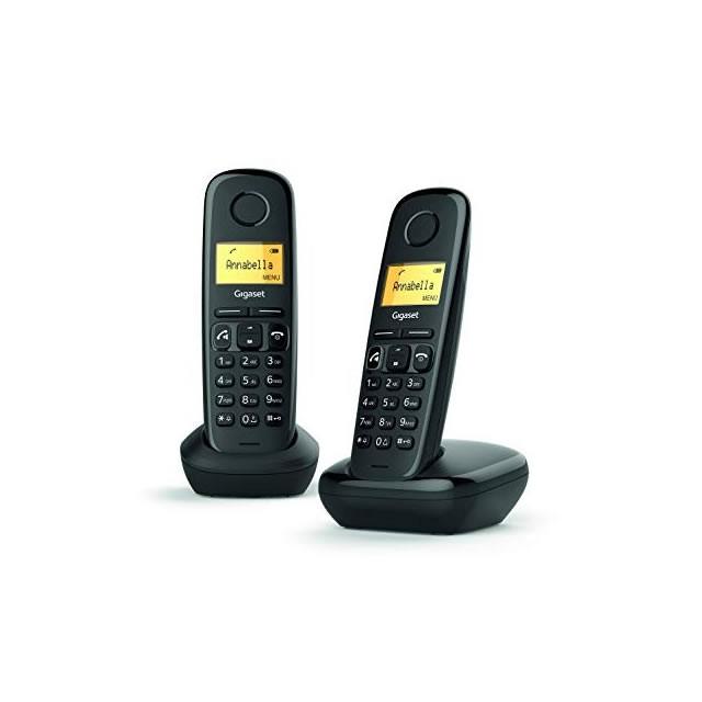 Teléfono Fijo Inalámbrico Gigaset A270 Duo Negro