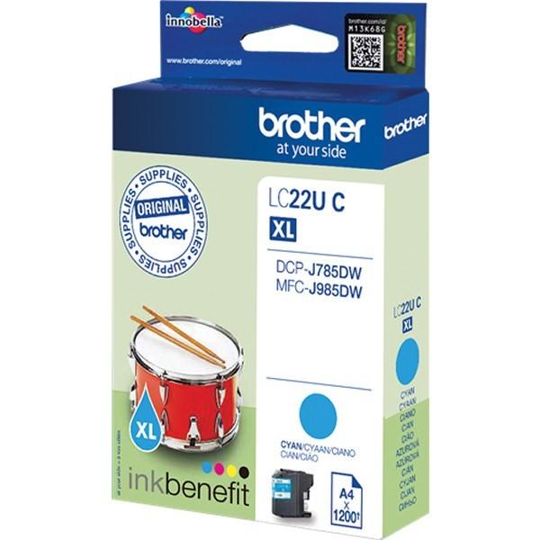 Brother LC22UCBP Cartucho de Tinta Original Cian