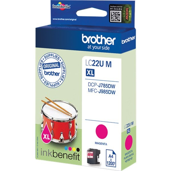 Brother LC22UMBP Cartucho de Tinta Original Magenta