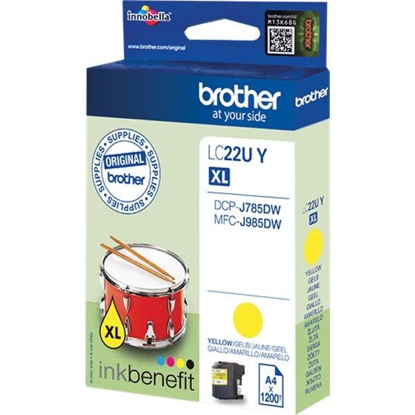Brother LC22UYBP Cartucho de Tinta Original Amarillo