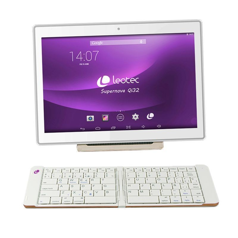 Mini Teclado Bluetooth Plegable Leotec LERK04W Blanco