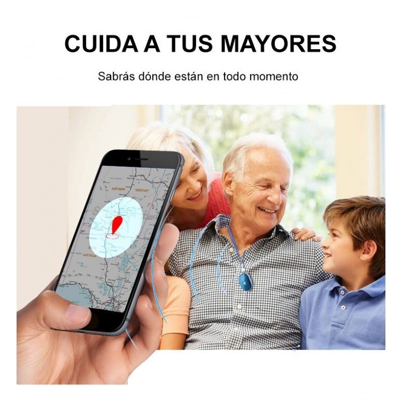 Localizador GPS Leotec Smart Tracker Anti-Perdida Negro - Botón SOS