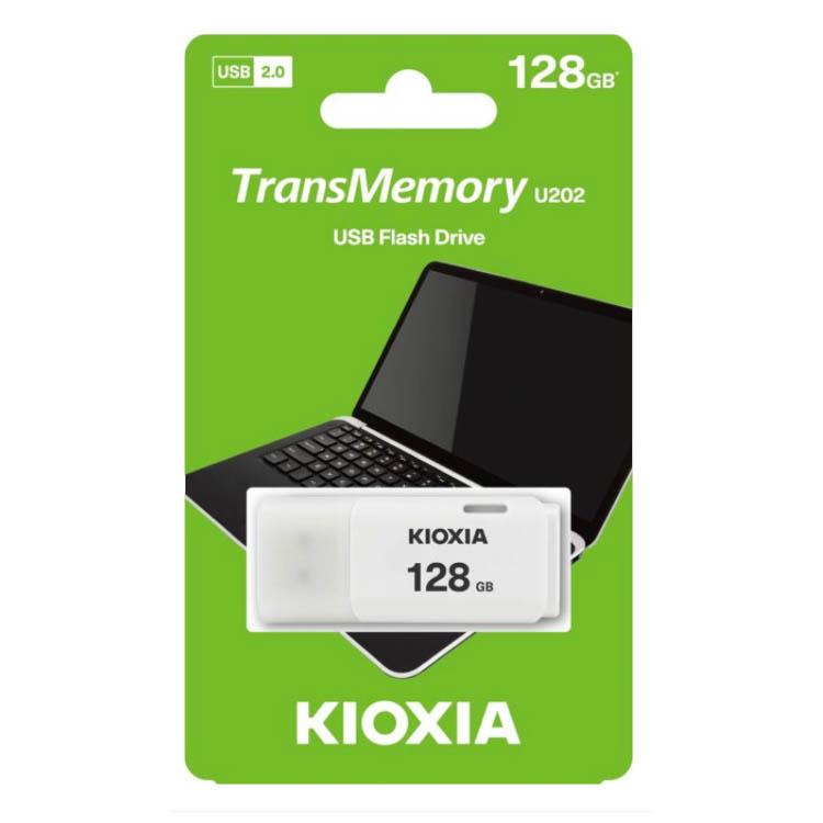 Pendrive 128GB Kioxia TransMemory U202 Blanco