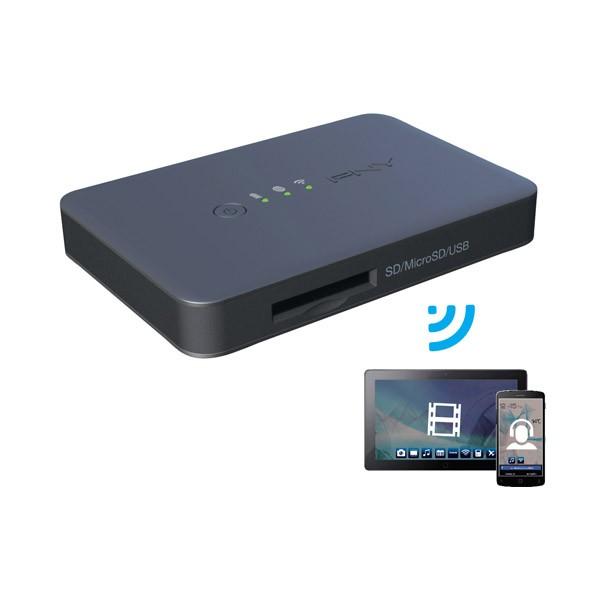 Lector de Tarjetas + USB Inalambrico PNY Wireless Media Reader