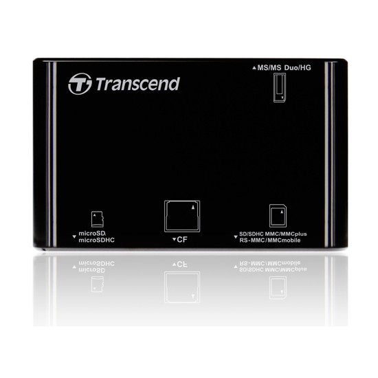 Lector de Tarjetas USB Transcend RDP8 Negro