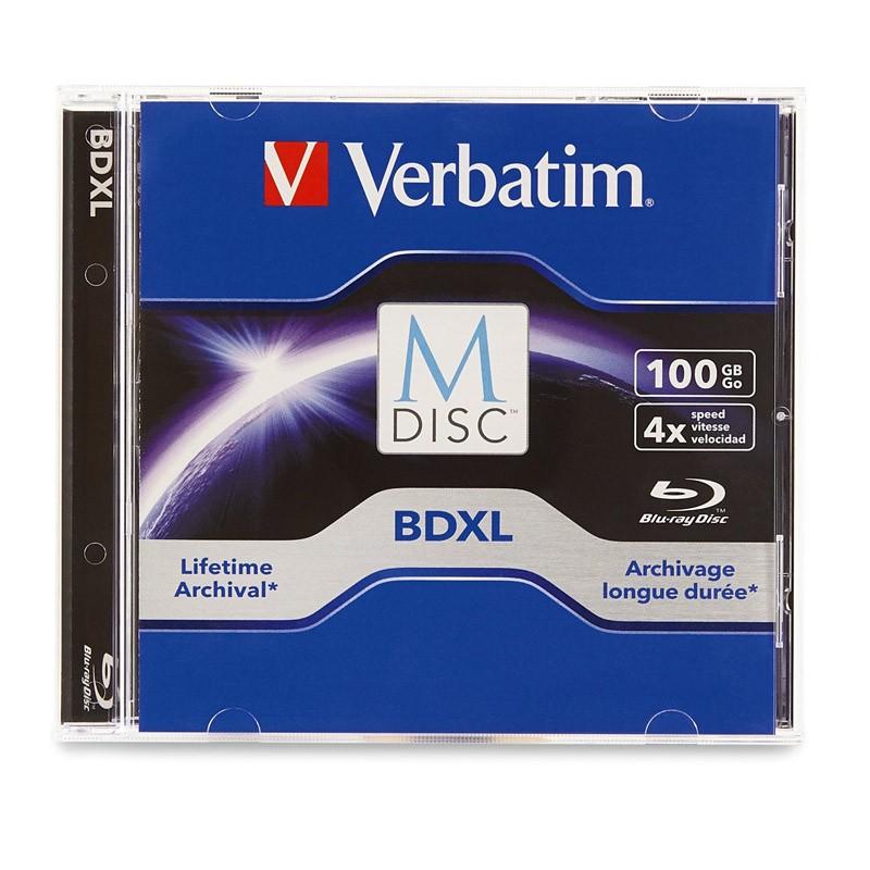 M-Disc BD-R XL 100GB 4x Verbatim Caja Jewel 1 uds