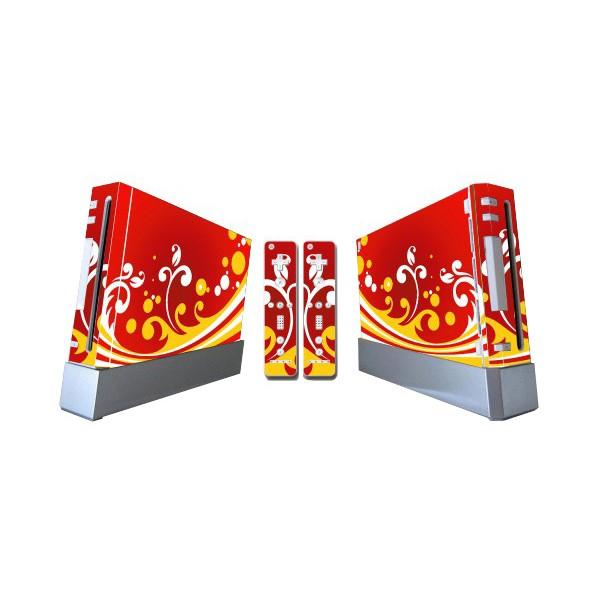 Wii Skin (Pegatina) Mod: 129 (Ondas Rojo-Amarillo)