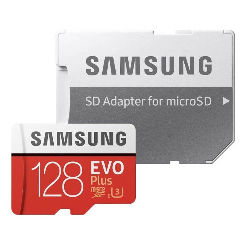 Tarjeta MicroSDXC 128GB Clase 10 UHS-I U3 Samsung EVO Plus c/Adapt - 2020