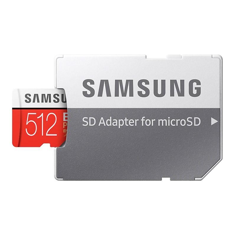 Tarjeta MicroSDXC 512GB Clase 10 UHS-I U3 Samsung EVO Plus c/Adapt - 2018