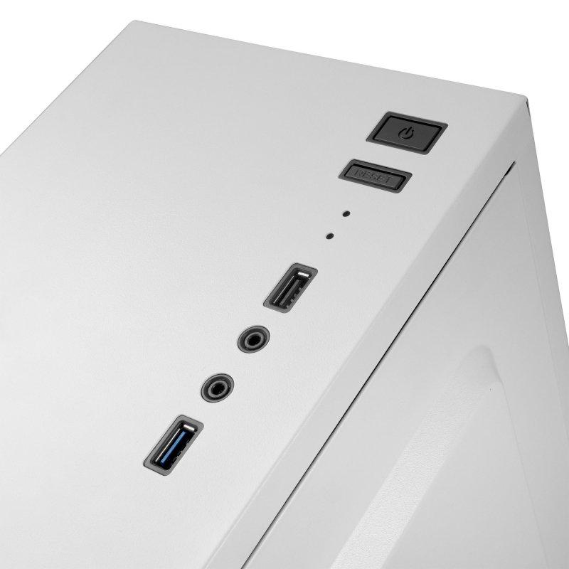 Caja PC Mars Gaming MC100W ATX FRGB Cristal Acrílico USB 3.0 Blanco