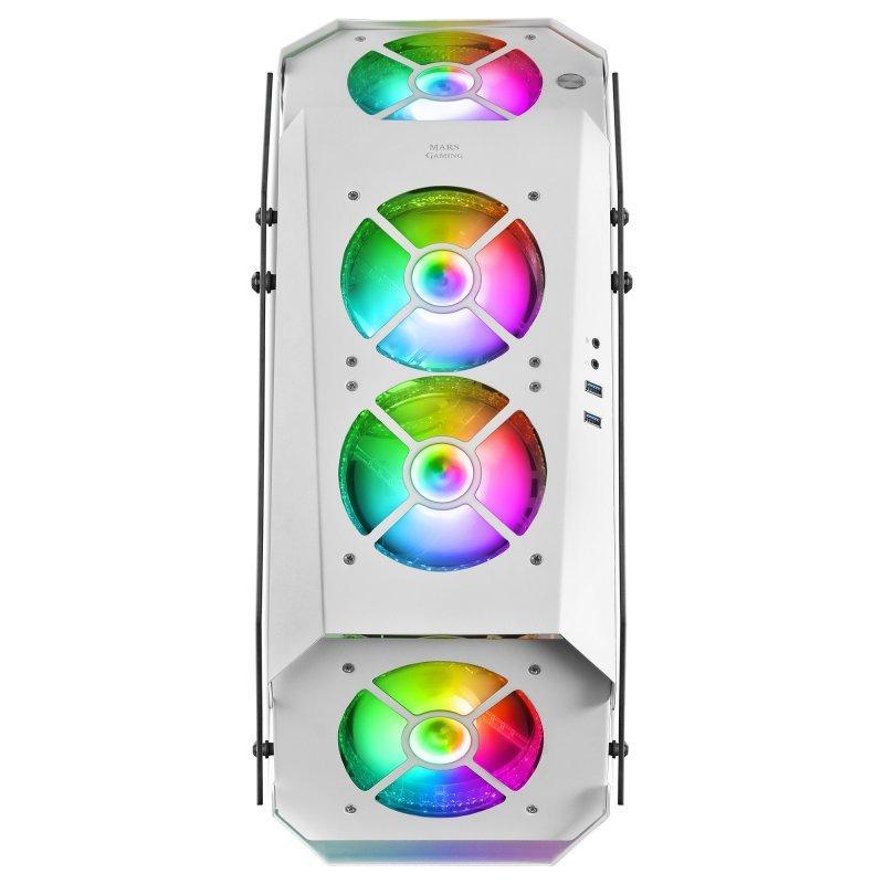 Caja PC ATX Mars Gaming MC51 Blanca
