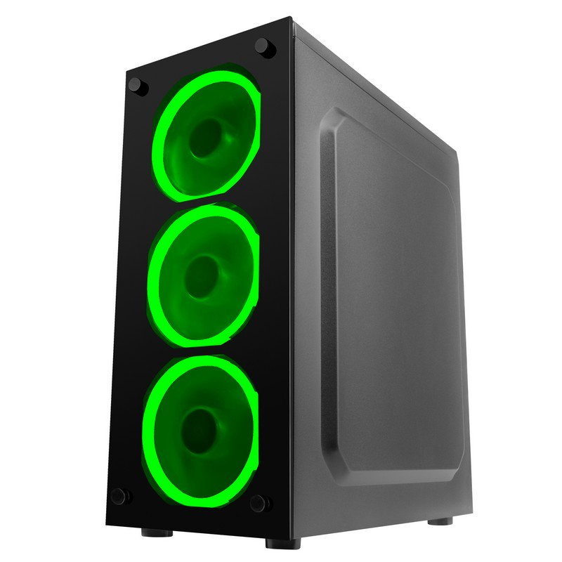 Caja PC ATX Mars Gaming MCGGREEN