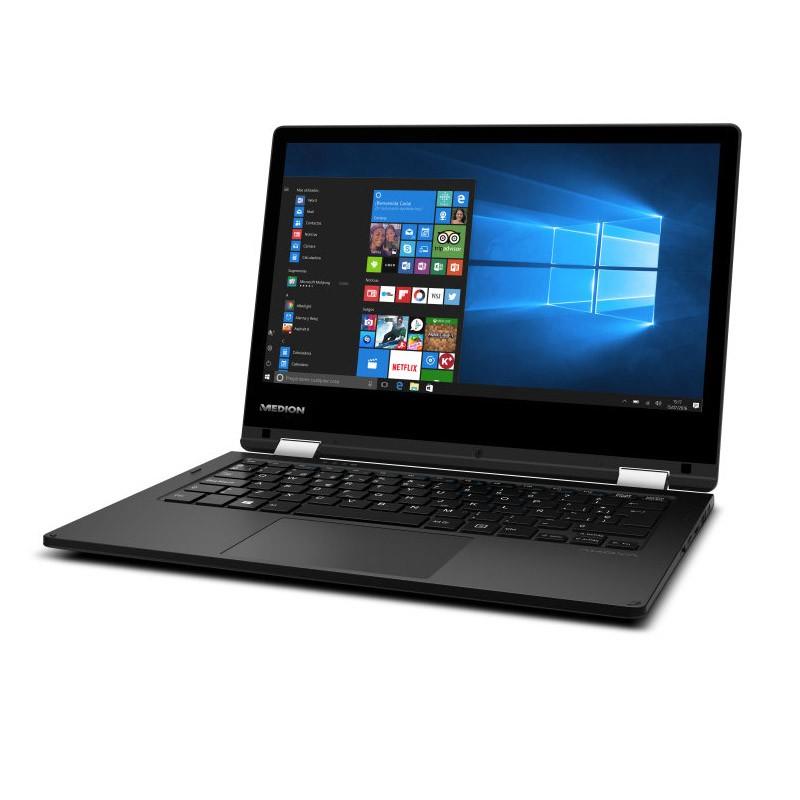 Convertible 2 en 1 Medion E2215T Intel X5-Z8350 2GB 32GB Negro