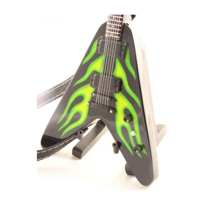 Mini guitarra de colección estilo metallica – james hetfield – hot rod