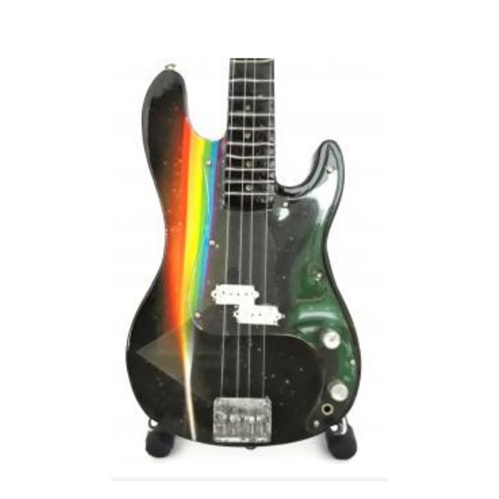 Mini guitarra de colección tributo pink floyd - roger waters - bass dsom - 1