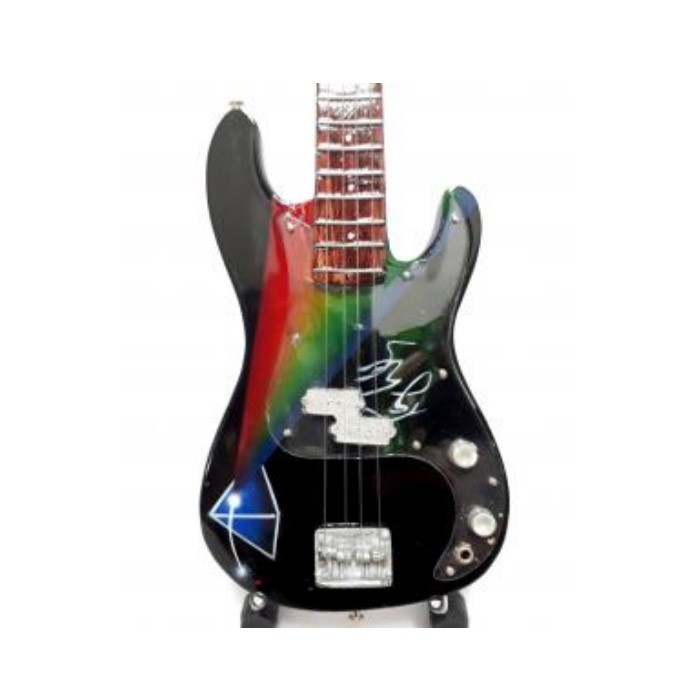 Mini guitarra de colección tributo pink floyd - roger waters - bass dsom - 2