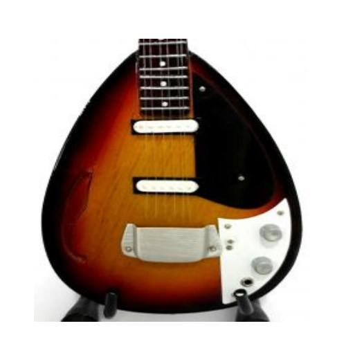 Mini guitarra de colección estilo rolling stones - bill wyman
