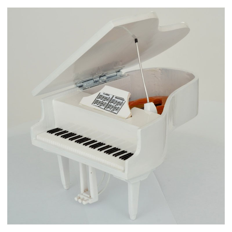 Mini Piano de Colección Color Blanco