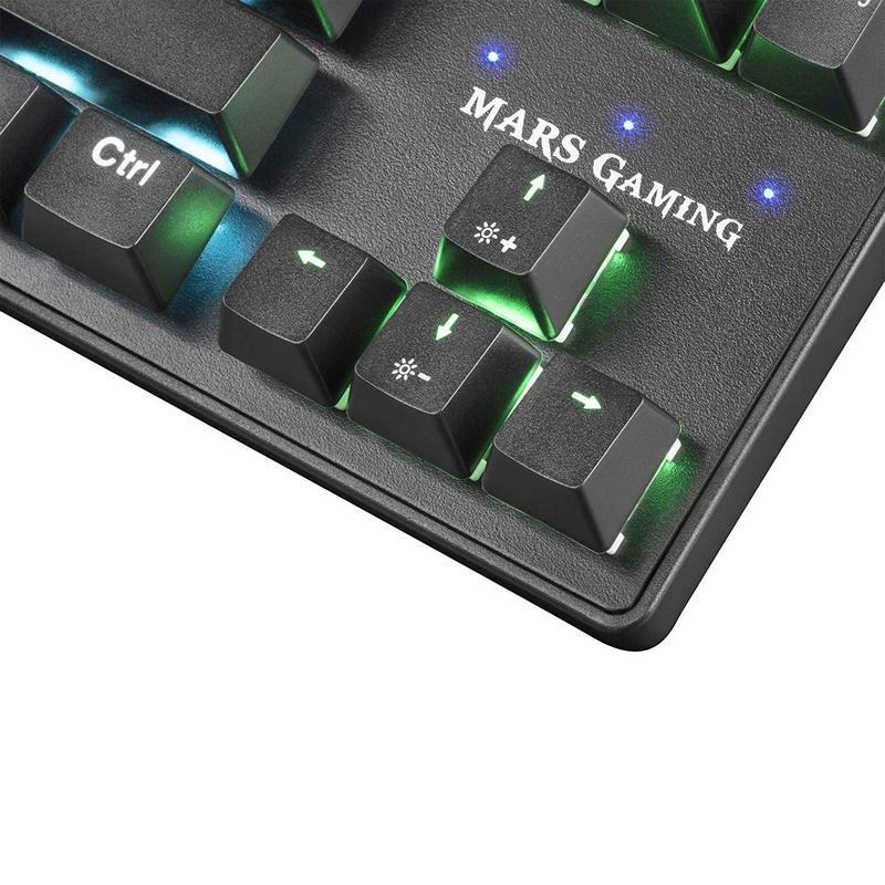 Teclado Mecánico Mars Gaming MKXTKL Switch Azul