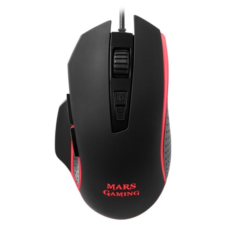 Ratón Óptico USB Mars Gaming MM018 4800DPI RGB